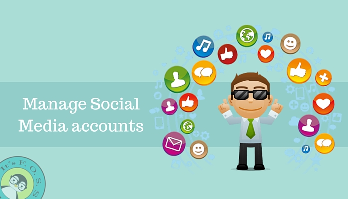 Manage Social Media accounts of Linux distributions