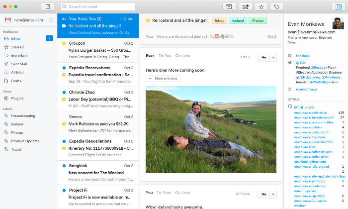 N1 Open Source email client on Mac OS X