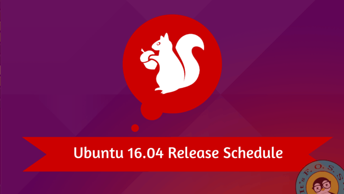 Release dates of Ubuntu 16.04