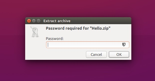 How to create password protected zip files in Linux
