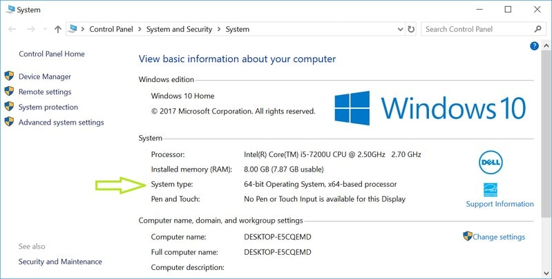 Find out if Windows is 32 bit or 64 bit