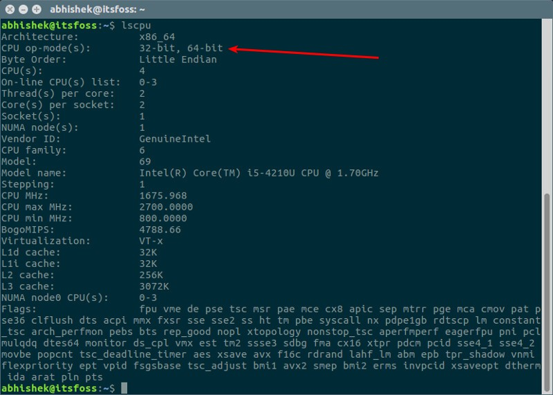 find out if ubuntu is 32 bit or 64 bit