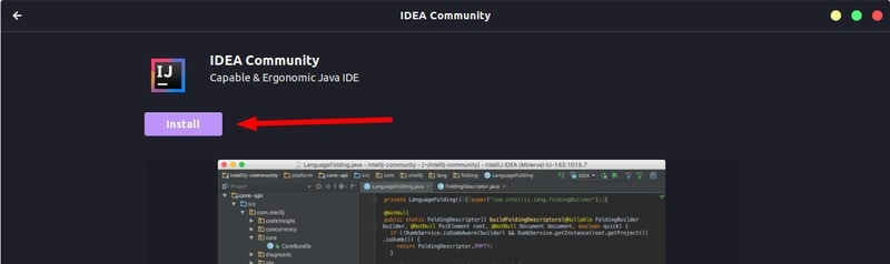 Installing IntelliJ IDEA in Ubuntu via the Software Center