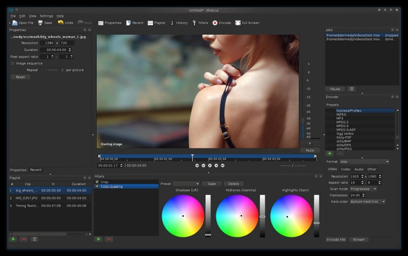 Shotcut Linux video editor