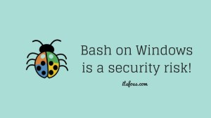 Bash on Windows is a security risk says expert