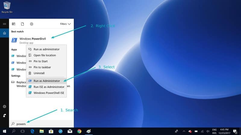 Enable Windows subsytem for Linux