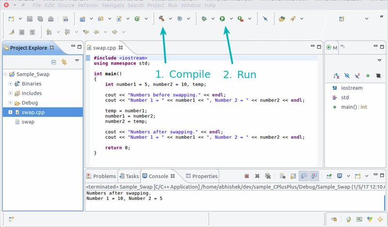 Configure Eclipse for C++ development in Ubuntu Linux