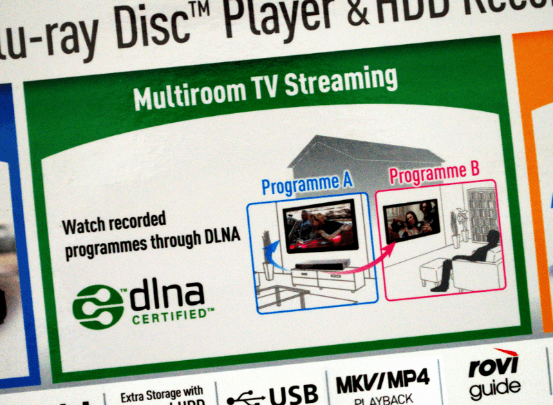 This consumer-grade device can act as a DLNA/UPnP media server