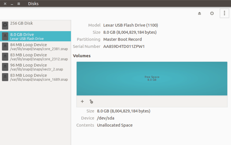 Format USb disk correctly in Ubuntu
