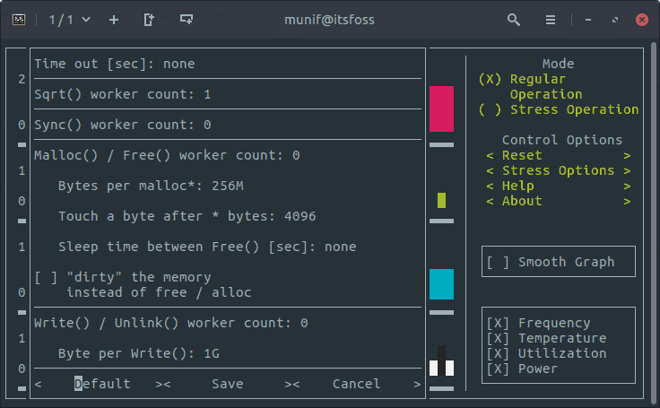 Easily Monitor CPU Utilization in Linux With Stress Terminal UI