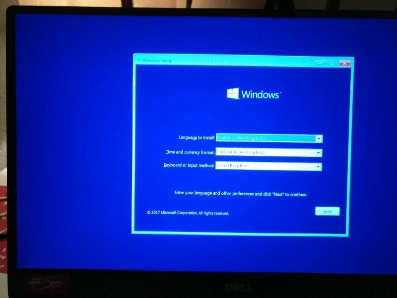 Booting Windows 10 USB