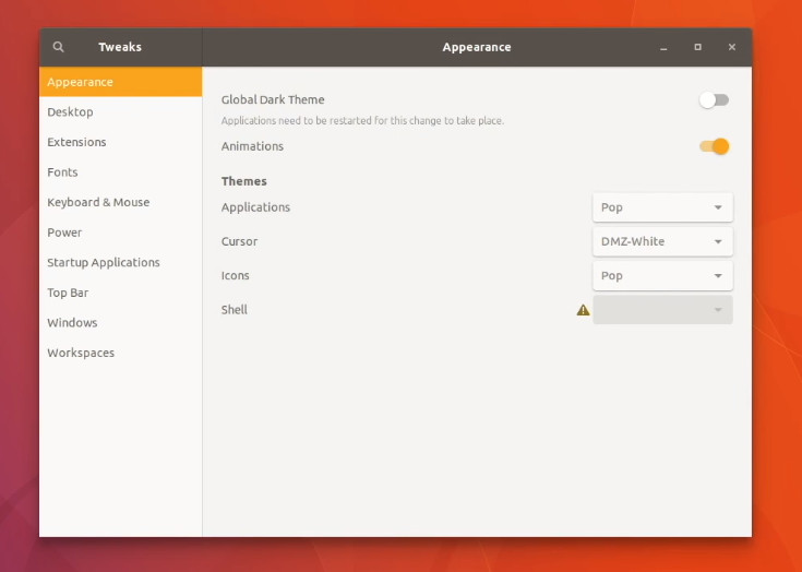 Change theme is one of the must to do things after installing Ubuntu 17.10