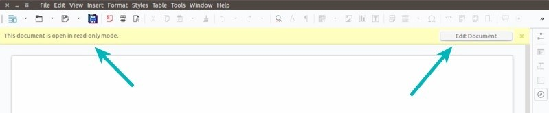 Create read only document LibreOffice