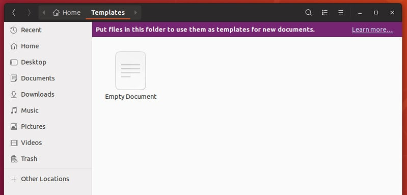 Empty text file in Templates directory