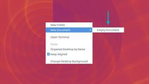 Enable new document in right click context menu in Ubuntu 18.04