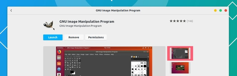 Install GIMP from Ubuntu Software Center Ubuntu