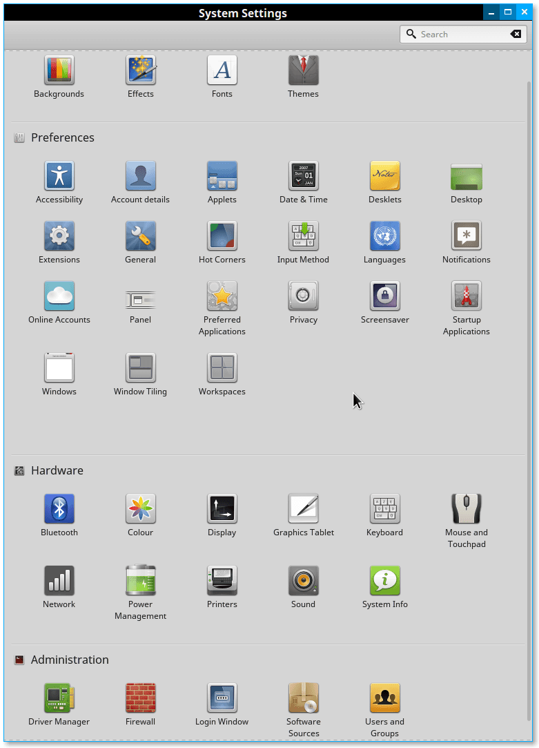 Linux Mint basic settings and usage