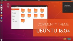 New Ubuntu 18.04 Community Theme