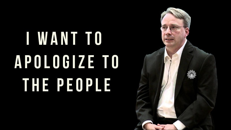 Linus Torvalds Apologizes