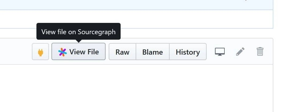 Sourcegraph extension on GitHub
