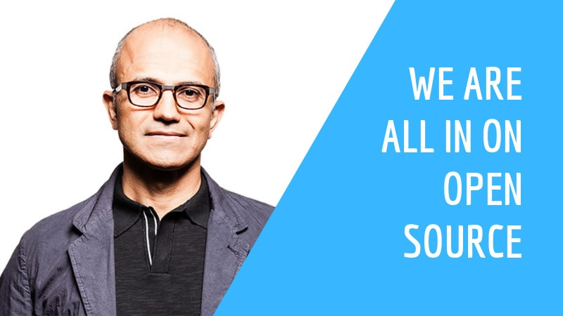 Microsoft CEO Satya Nadella quote on open source