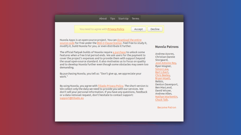 nuvola privacy policy
