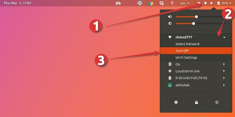 Restart network in Ubuntu