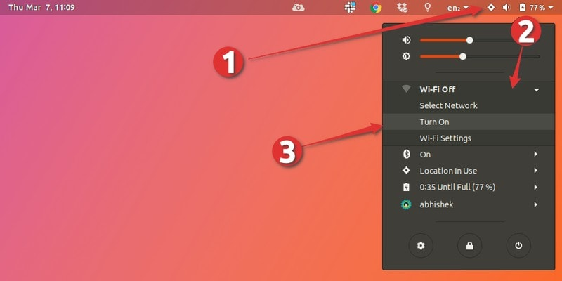 Restarting network in Ubuntu