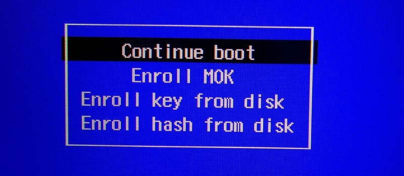 MOK and UEFI secure boot in Linux