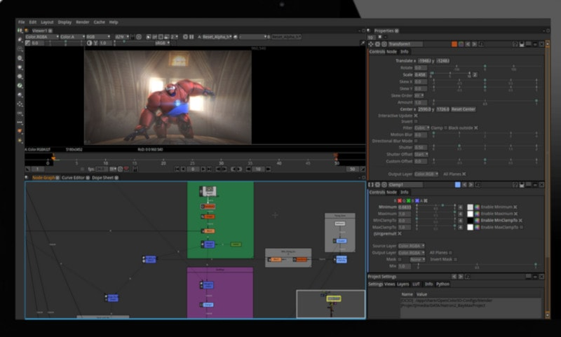 Natron pen source video editor