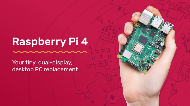 Raspberry Pi 4 Released with Up to 4GB RAM & 4K Support