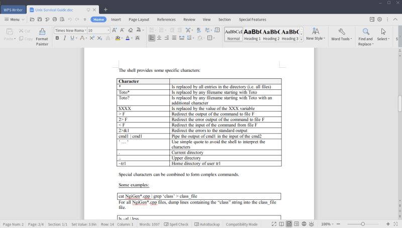 Wps Office Writer Linux