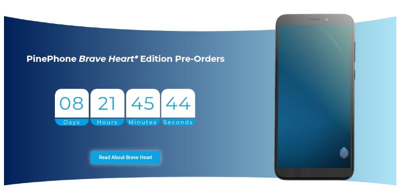 Pinephone Brave Heart Pre Order