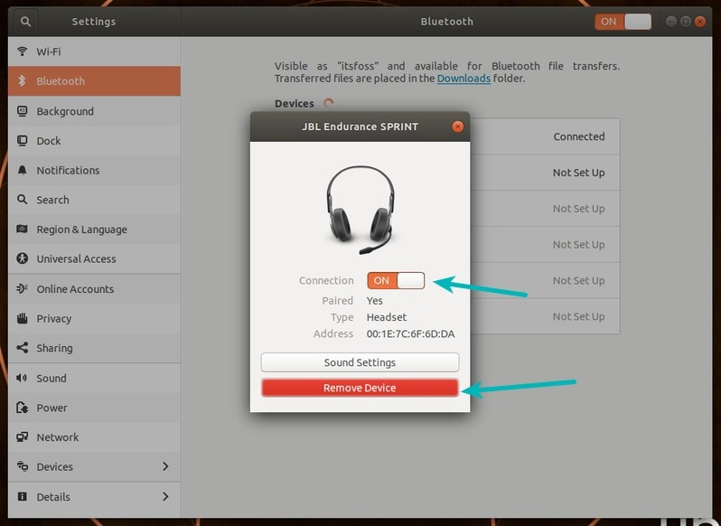 Bluetooth Settings Ubuntu 2