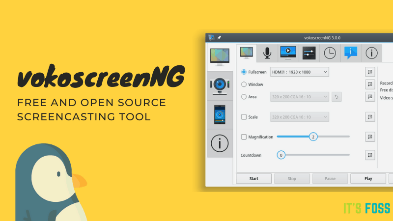 VokoscreenNG: Free and Open Source Screencasting Tool