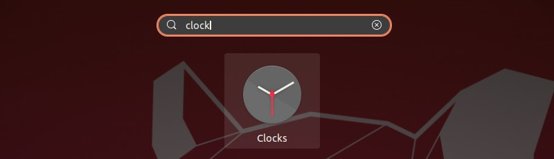 Gnome Clocks App in Ubuntu