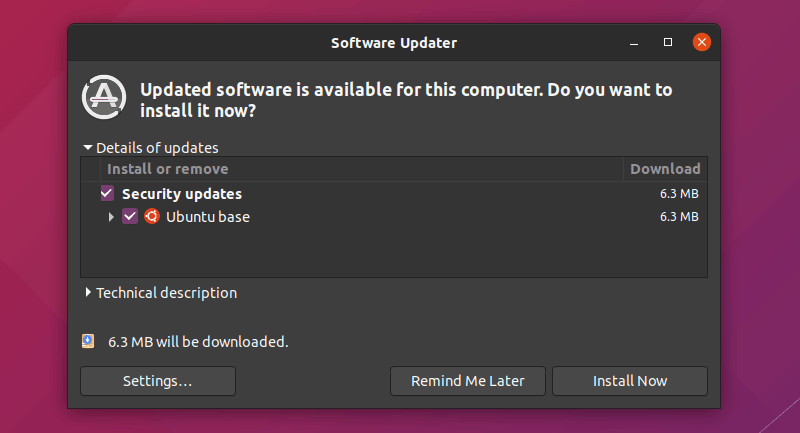 Updates Available Ubuntu