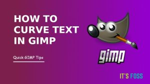 Curve Text In Gimp