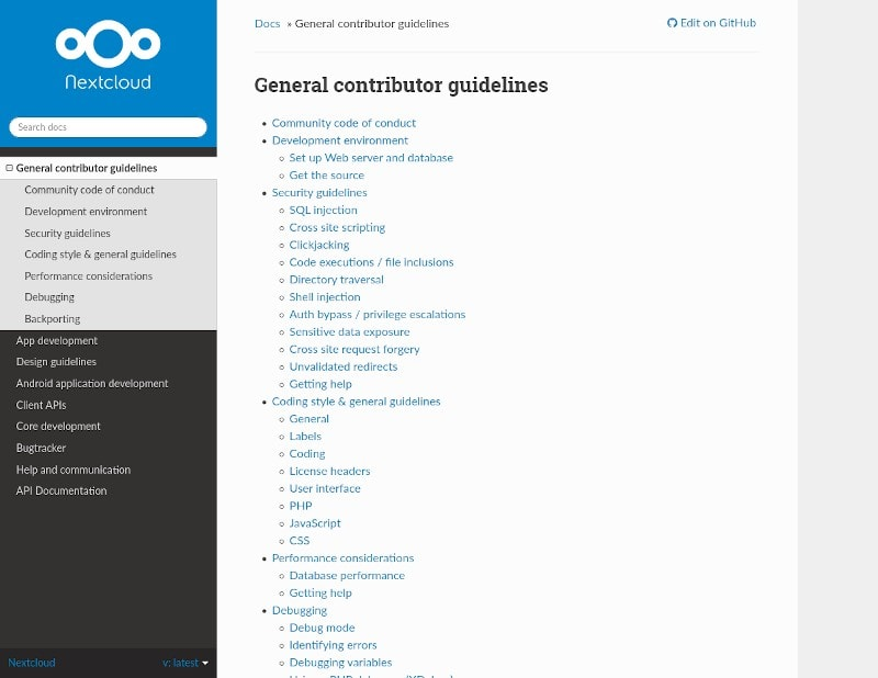 Nextcloud Documentation