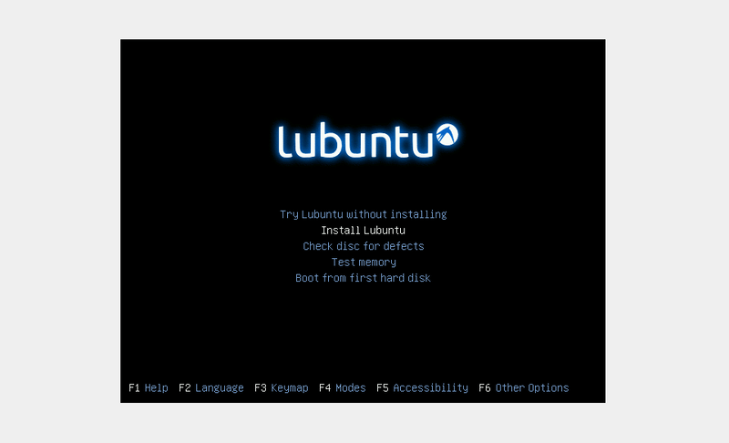 Boot Into Lubuntu Installation