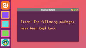 Fixing Following Packages Have Been Kept Back