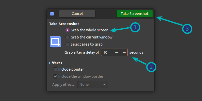 Gnome Screenshot With Delay