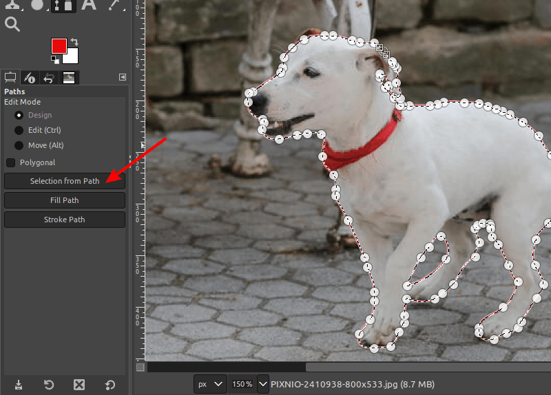 Selection To Path for making the background transparent