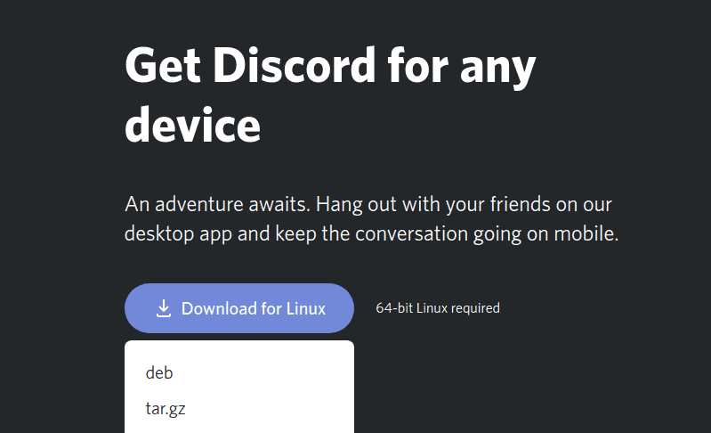 Download Discord for Linux