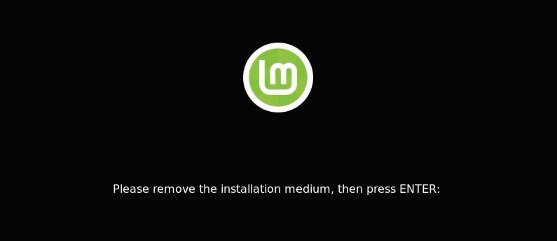 Finish Linux Mint Installation