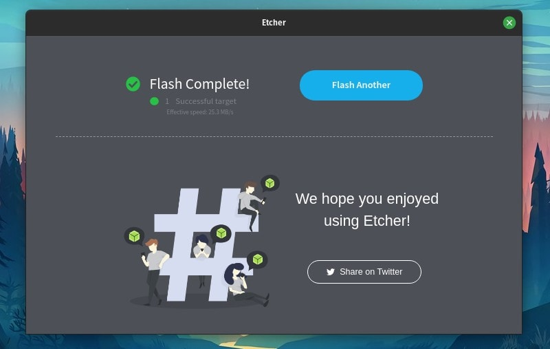 Etcher Flash Complete