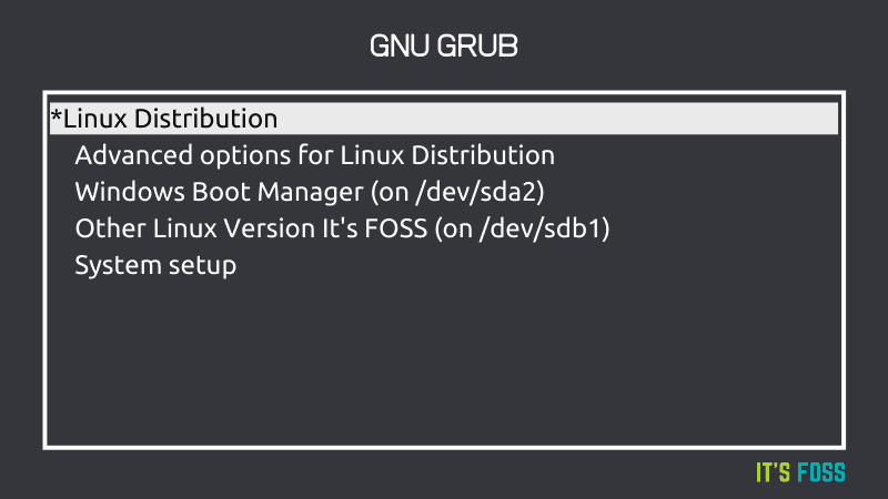 Grub Screen Linux