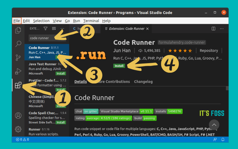 Running C Program In Linux With Visual Studio Code