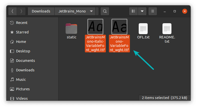 Installing New Fonts Linux