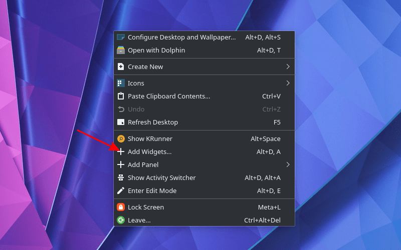 Kde Neon Add Widgets